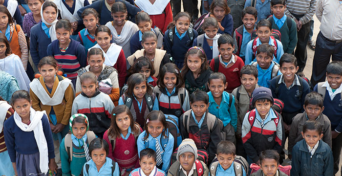 happy students from a bridge of hope center