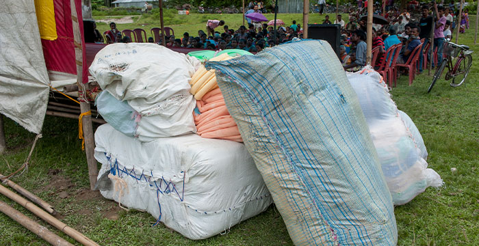 Mosquito Nets at a GFA World Distribution