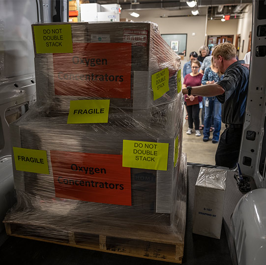 medical supplies being sent to asia