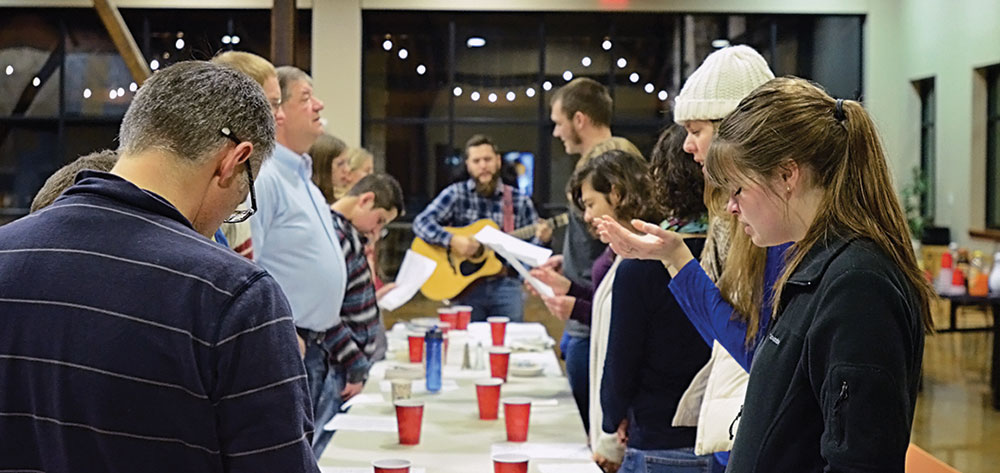 Students and Staff gathered for the bi-annual Celebration Potluck