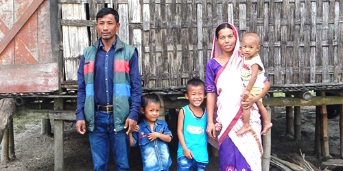 Salil and his family