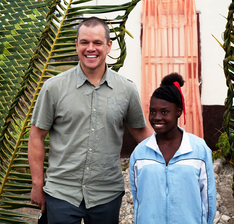Matt Damon, founder of Water.org