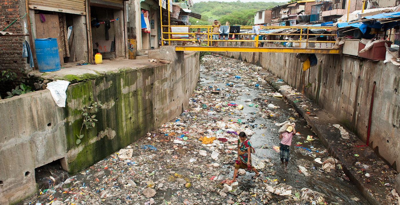 A slum in Asia