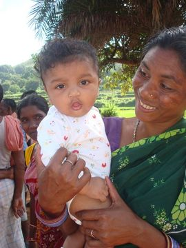 This toddler represents Orissa's future. Nearly half of Orissa's population is under the age of 18.